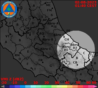 Piogge dal Radar Centro-Italia